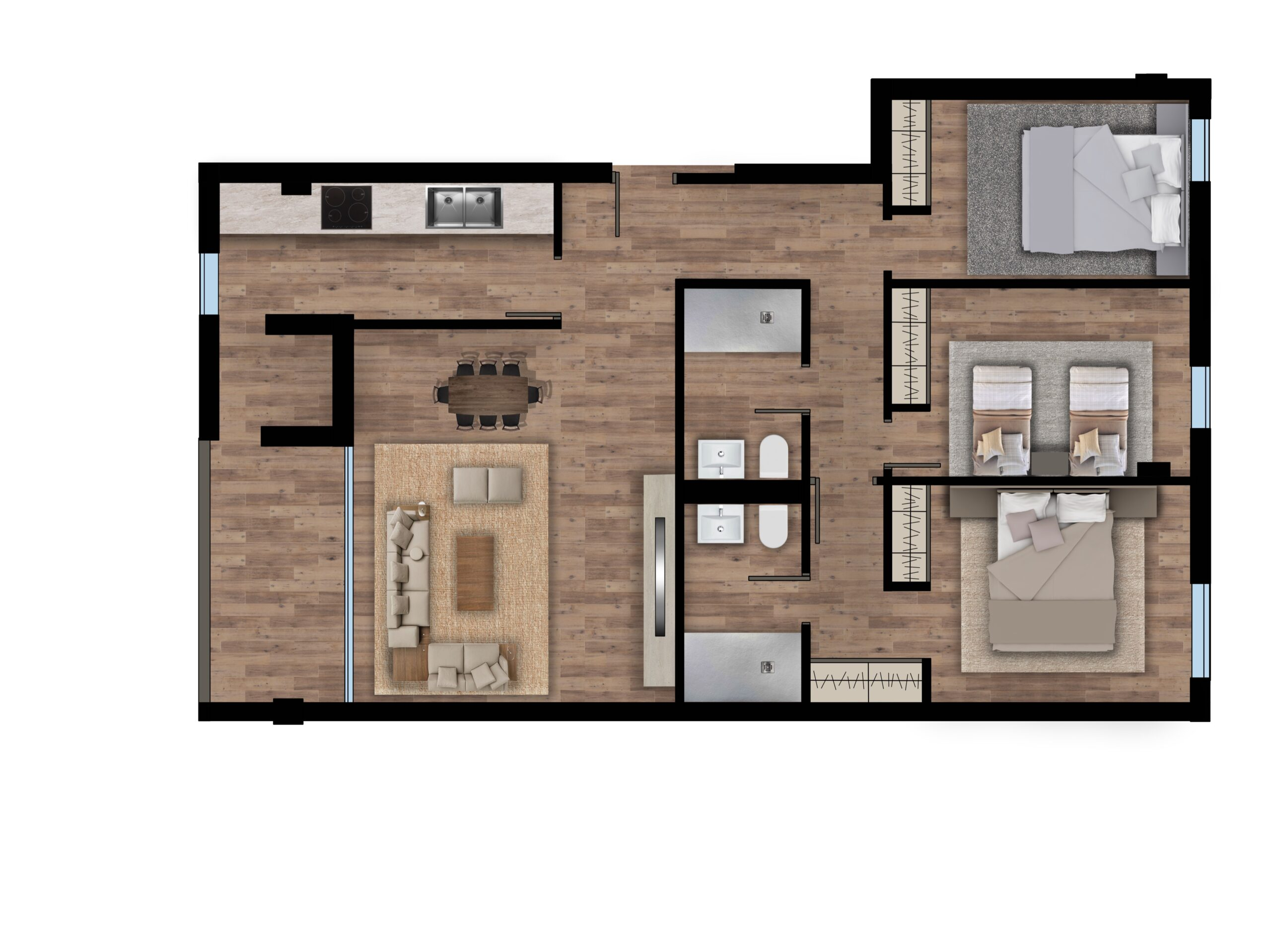 Plano 3 dormitorios Bulevar ok