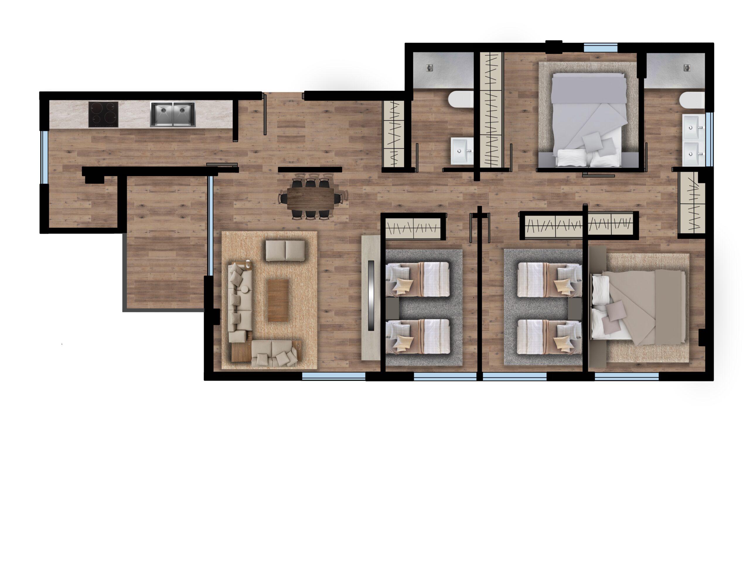 Plano 4 dormitorios Bulevar ok